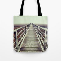 cape cod Tote Bags featuring Gray's Beach Cape Cod by marie grady palcic
