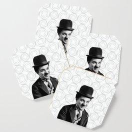 Charlie Chaplin Old Hollywood Coaster