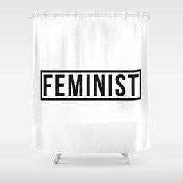 Feminist White Shower Curtain