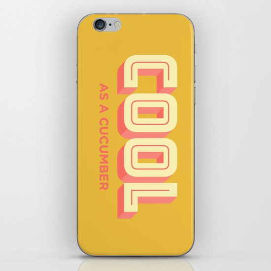 Cool As A Cucumber iPhone & iPod Skin