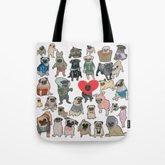 Pugs Tote Bag