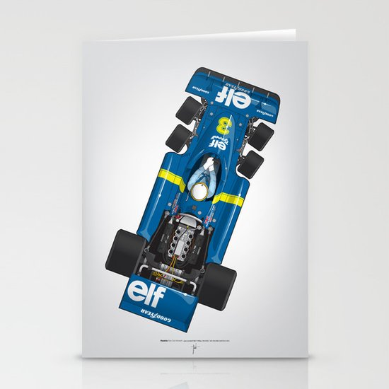 Outline Series N.º3, Jody Scheckter, Tyrrell-Ford 1976 Stationery Cards