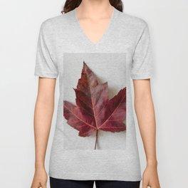 Single Maple Leaf Unisex V-Neck