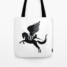 Pegasus Black Tote Bag