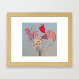 Organ Balloons Framed Art Print