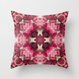 Crystal Matrix Mandala Throw Pillow