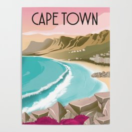 Cape Town | Vintage Travel Poster | Enhanced Matte Paper perfect for your wall ! Sizes: (inches) Poster