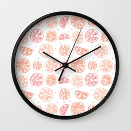 Paloma Grapefruit White Wall Clock