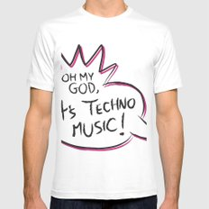 It's Techno Music! Mens Fitted Tee White SMALL