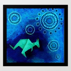 Kangaroo Origami 4 Art Print