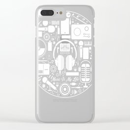Music Is My Life Clear iPhone Case