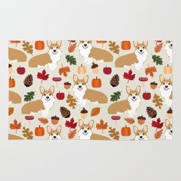 Corgi Autumn Fall woodland pillow phone case cute corgi design corgi dog pattern corgis love Rug