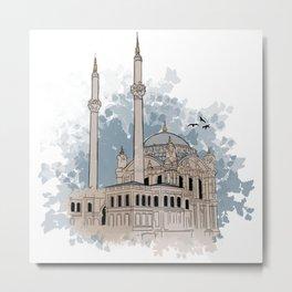 Ortokoy Mosque Metal Print