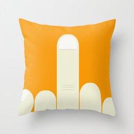 MiddleFinger Throw Pillow