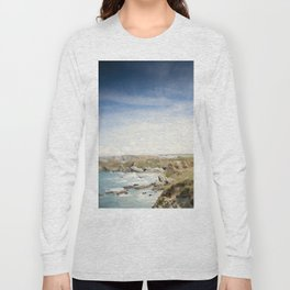 Tilt and Shift Views along the Newquay Coastline Long Sleeve T-shirt