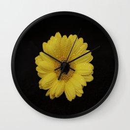 Yellow Gerber Daisy Wall Clock