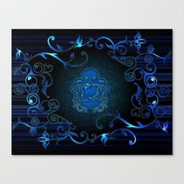 Steampunk Blue Canvas Print
