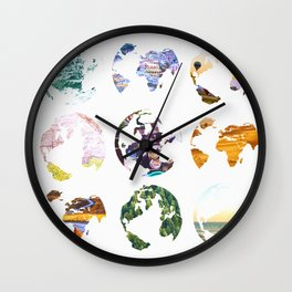 Globes Wall Clock