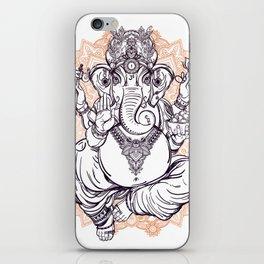 Lord Ganesha on Mandala iPhone Skin