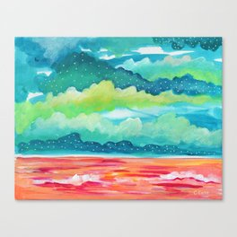 Abstract Seascape IV Canvas Print
