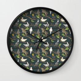 Cockatiel Forest Wall Clock