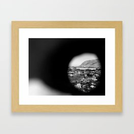 Hag Stone View by Jessi Fikan Framed Art Print