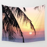 bali Wall Tapestries featuring Bali Sunset by Coconut Living