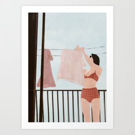 Hanging Clothes Art Print