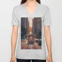 San Francisco Trolley (Color) Unisex V-Neck