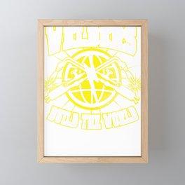 Welders Build the world Framed Mini Art Print