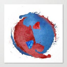 supervalor yinyang Canvas Print