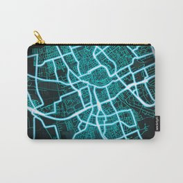 Groningen, Netherlands, Blue, White, Neon, Glow, City, Map Carry-All Pouch