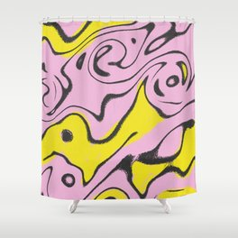 Fun Colors and Shapes Shower Curtain