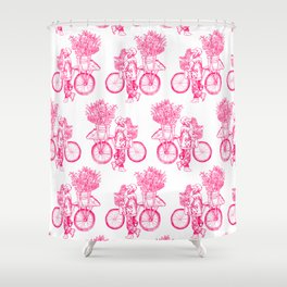 Bicycle Flower Seller in Hanoi Shower Curtain