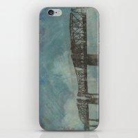 broadway iPhone & iPod Skins featuring Broadway Bridge by Chantel Greene