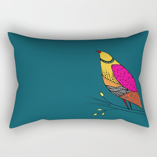 the colored Neville Rectangular Pillow
