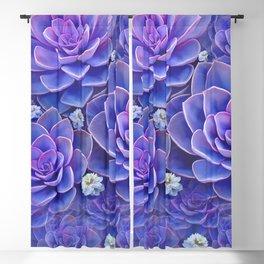 """""""Bouquet of pastel violet exotic succulents"""" Blackout Curtain"""