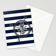 Navy Striped Nautica Stationery Cards