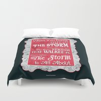 murakami Duvet Covers featuring Lab No.4 - When You Come Out Of The Storm You Won't Be Inspirational Quotes poster by Lab No. 4
