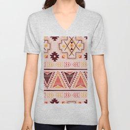 Pink tribal pattern Unisex V-Neck