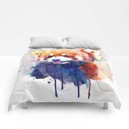 Red Panda Portrait Comforters