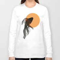 goldfish Long Sleeve T-shirts featuring goldfish by morgan kendall