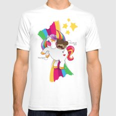 Chestnut Girl And Starlight MEDIUM Mens Fitted Tee White