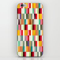 stripes iPhone & iPod Skins featuring Stripes by Danny Ivan