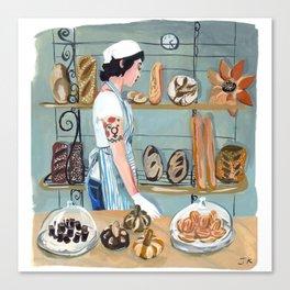 Clearfour Bakery Girl Canvas Print