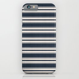 Classic Horizontal Stripe in Navy iPhone Case