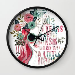 July Girl 2003 16 Years Of Being Sunshine Mixed With A Little Hurricane Birthday Wall Clock