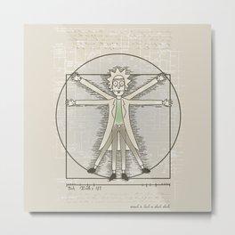 Virtruvian Rick Metal Print