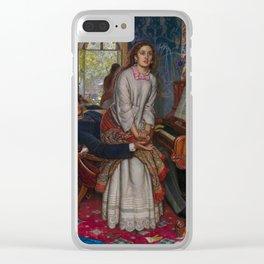 William Holman Hunt - The Awakening Conscience, Tate Britain Clear iPhone Case