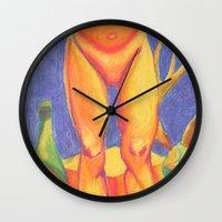 legs Wall Clocks featuring Legs by Brittany Ketcham